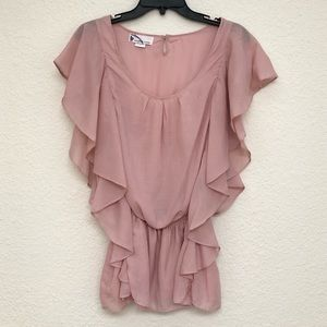 Tops - ⭐️ Pale rose pink layered ruffle top